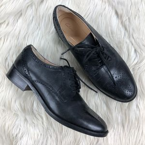 Clarks Black Leather Lace Up Oxford Brogue
